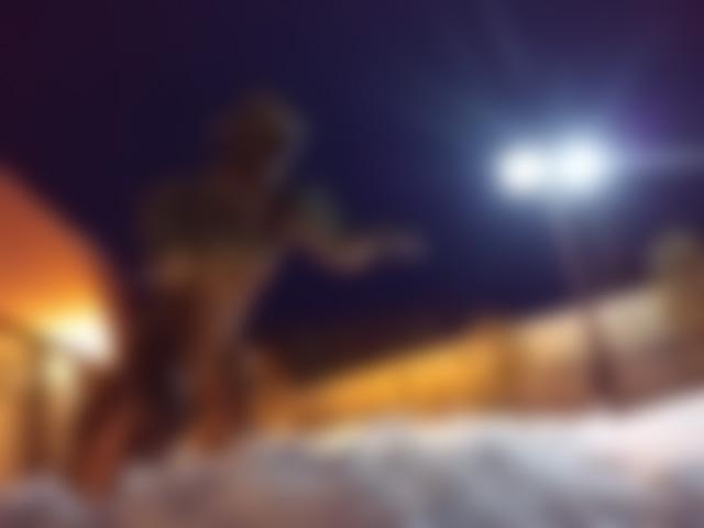 夕鹿の湯の怪獣さん